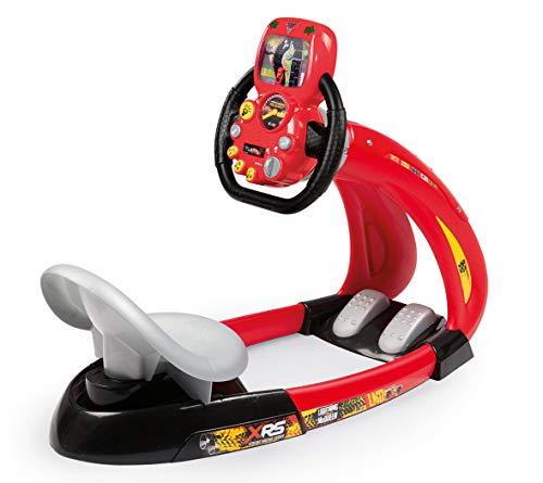 Smoby - Cars XRS V8 Driver + Soporte para Smartphone - Simulador de conducción para niños - Volante electrónico - Sonidos y Luces - 370215