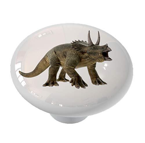 Gotham Decor Triceratops Dinosaur Ceramic Drawer Knob