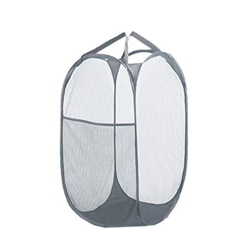 1stモール 洗濯かご ランドリーバスケット グレー 洗濯物入れ ランドリー 収納 脱衣かご 折り畳み式 ST-SKAGO-GY