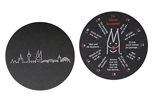 20 x Köln Bierdeckel Skyline Kölsches Grundgesetz Glasuntersetzer aus Pappe