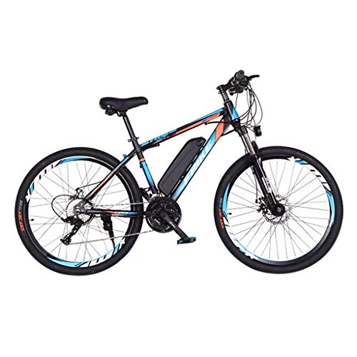 LIEIKIC 26 Inch Electric Bikes for Adults Mountain Bike with 36v 8ah Lithium Battery Offroad Tires Bicycles Carbon Steel Full Suspension Ebike (Blue)