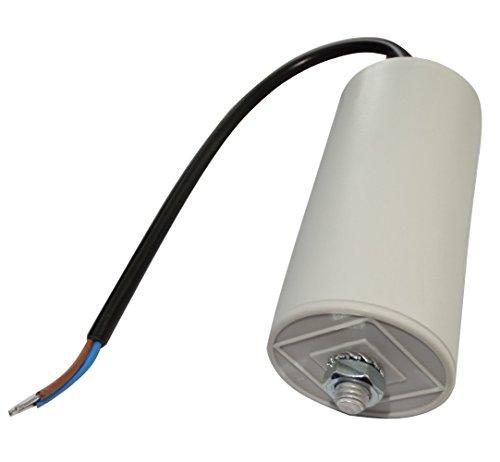 AERZETIX: Condensatore permanente di lavoro per motore 40µF 425V con cavo 25cm Ø45x92mm ±5% 10000h C18755