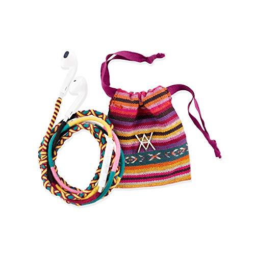 Vam Vam VAAUR002 Auriculares con Cable - Reforzados, Estampados y con Bolsa de Transporte, Amarillo, Rojo y Azul, estándar