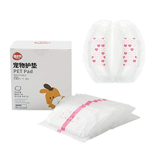 TEEKOO 30 Unidades/Set de Pañales para Perros, Perras superabsorbentes Desechables de pañales Pads para Evitar Fugas para el Exterior