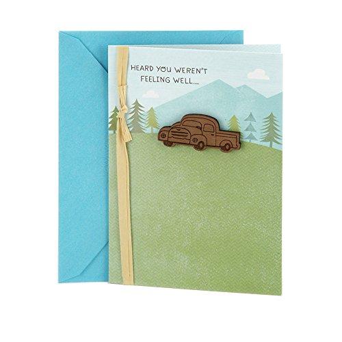 Hallmark Get Well Greeting Card (Truck)