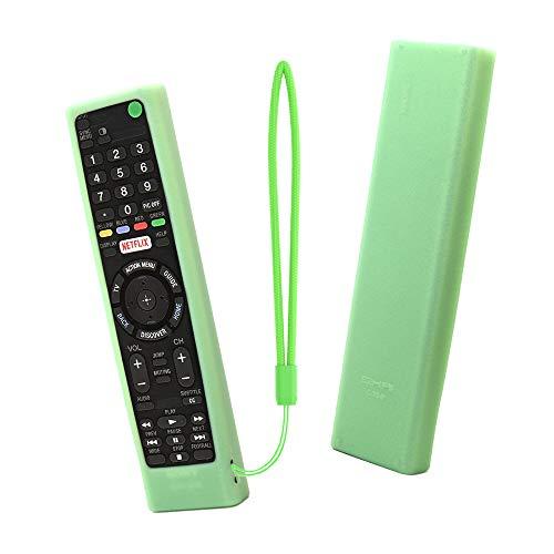 SIKAI CASE Glow in Dark - Protegge Custodia Telecomando Compatibile con Sony Bravia Remote RMT-TX100 RMT-TX200E RMT-TX300E RMT-TX310E RMF-TX200C, Anti-Graffi Protettiva in Silicone Proteggere (Verde)