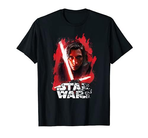 Star Wars Last Jedi Kylo Ren Paint Portrait Graphic T-Shirt T-Shirt