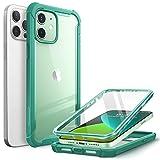 i-Blason Funda 6.1 Inch iPhone 12 /iPhone 12 Pro [Ares] 360 Grados Carcasa con Protector de Pantalla Integrado - Verde