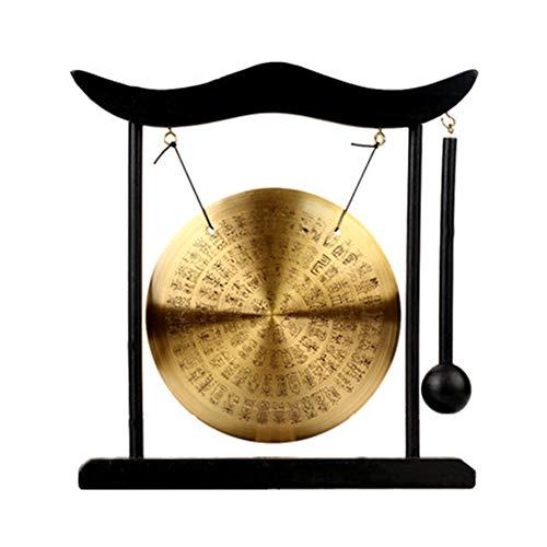Zhuowei Chinesischer Tisch Gong,Feng Shui Meditation Abnehmbare Design Schreibtischglocke Inneneinrichtung Einweihungsparty Glückwunsch Segen Geschenk,2