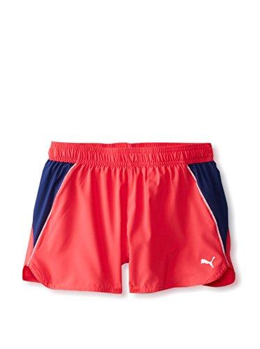 PUMA Women's PE Running Shorts, Virtual Pink-Blueprint, Large
