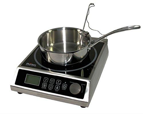 Max Burton 6515 Digital ProChef-1800 Induction Cooktop Digital Controls 10 Adjustable Watt and 15 Temperature Settings Timer Program Lock Programmable Cooking 1800W 120V