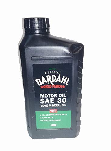 Bardahl Classic Motor Oil SAE 30 100% Minerale per Lubrificante Motori Benzina da 1900 A 1950 1 LT