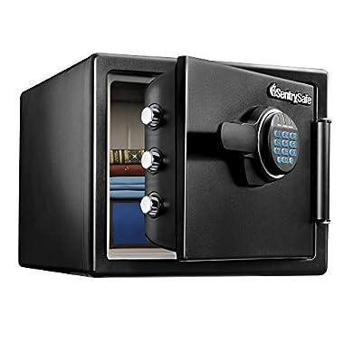 SentrySafe SFW082F Fireproof Waterproof Safe with Digital Keypad, 0.82 Cubic Feet