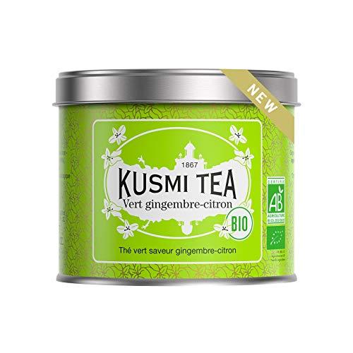 Kusmi Tea - Té verde Bio con sabor a jengibre-limón - Lata de 100g