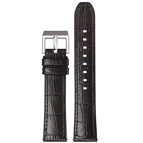Stailer Premium Max Endurance Classic Collection - Piel auténtica con relieve de cocodrilo (22 mm, 20 mm, 18 mm), marrón, 22mm,