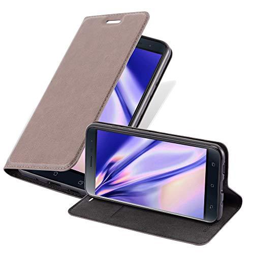 Cadorabo Hülle für Asus ZenFone 3 in Kaffee BRAUN - Handyhülle mit Magnetverschluss, Standfunktion & Kartenfach - Hülle Cover Schutzhülle Etui Tasche Book Klapp Style