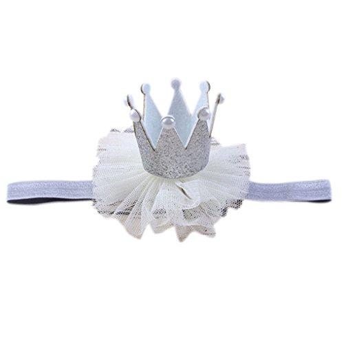 Fengyuanhong Newborn Glitter Prinzessin Stirnband-Baby-Fotografie-Geburtstags-Haar-Band-Verpackungs-Foto-Stütze Baby Kopfbedeckung Neugeborene Prinzessin Kopfbedeckung