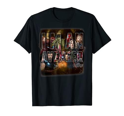 Marvel Infinity War I AM AN AVENGER Team Graphic T-Shirt