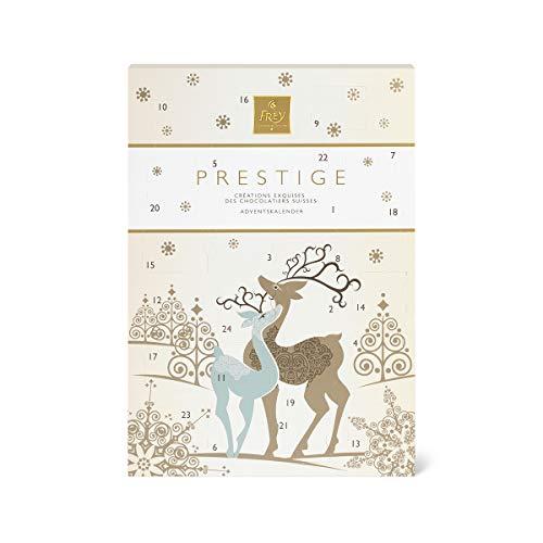 Frey Adventskalender Pralinés Prestige Rentier - Weihnachtskalender mit Schweizer Premium Schokolade - UTZ zertifiziert - Confiserie-Spezialitäten zu Weihnachten Adventszeit - Schokoladengeschenk