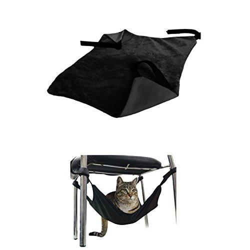 Crewell sotto sedia gatto gattino Totoro appeso amaca letto gamba tavolo appeso amaca Nero