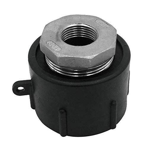 perfk Wassertank Container Anschluss Adapter für Auslaufhahn IBC Regenwassertank Adapter S60x6 Grobgewinde mit 3/4 Zoll Innengewinde
