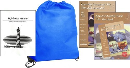 Learning Language Arts Through Literature Tan (Grade 6) Teacher and Student Set Homeschool Kit in a Bag