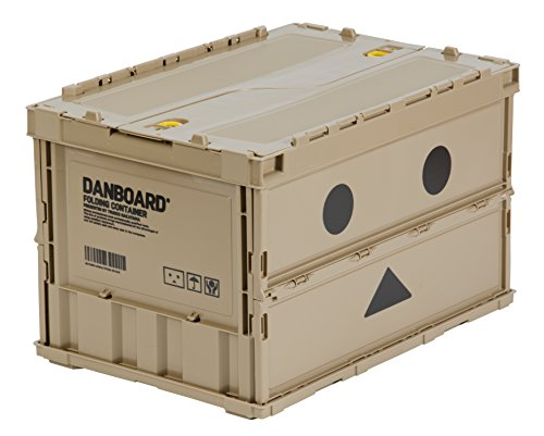 [Amazon.co.jp Exclusive] TRUSCO Danbo Thin Folding Container 50 L w/ Locking Lid TR-C50B-A-DNB