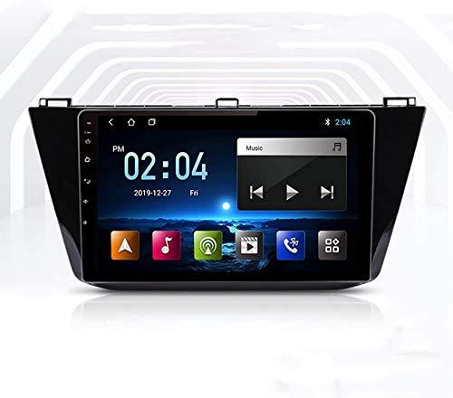 Android 10 Reproductor DVD para coche Unidad principal radio Compatible con Volkswagen Tiguan 2 2016-2020 Navegación GPS Estéreo Lente 9 pulgadas Pantalla táctil Dash Cam 1080P Grabador salpicadero