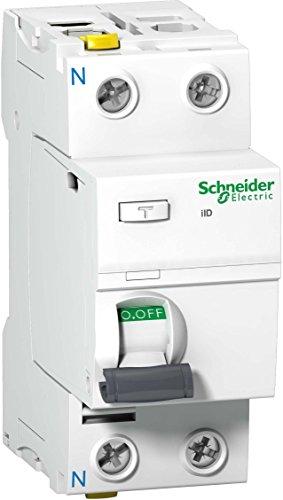 Schneider a9z20216–Interruptor de Corriente de Error IID, 2P, 16A, 10mA, Tipo A