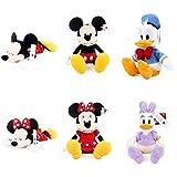 6 Unids / Set Mickey Mouse Minnie Donald Duck Daisy Animal Juguetes De Peluche Muñeca 30Cm, Dibujos Animados Niños Niñas Niños