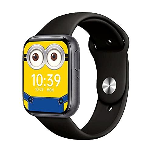 Reloj inteligente P80s con Bluetooth, multifunción, monitor de ritmo cardíaco, presión arterial, reloj deportivo, IP68 resistente al agua, para correr, actividades al aire libre, estudiante (negro)