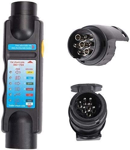 DIFIER Testeur Prise Remorque 7/13 pin Broches de Remorquage pour Circuit Camion Voiture Câblage Outil Diagnostic