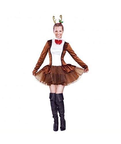 Partilandia Disfraz Reno Dancer para Mujer Navidad (S): Amazon.es ...