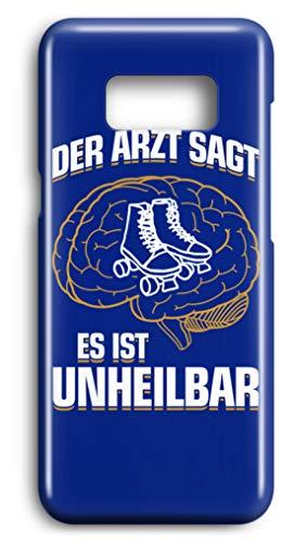 shirt-o-magic Handyhülle Rollschuhe: .es ist unheilbar - Case -Samsung S7-Royal Blau