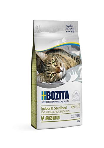 BOZITA Indoor & Sterilised Hühnchen - Trockenfutter für erwachsene hauptsächlich drinnen lebende Katzen, 10 kg