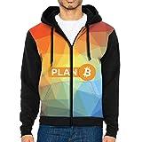 MKDIJIUWL Bitcoin Plan B - Sudadera con capucha para hombre