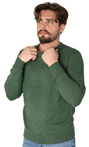 Marino Marini - Uomo - Maglione Girocollo Cashmere 100% - Verde - Taglia L