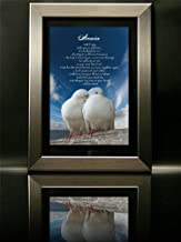 Love Birds Ascension Poem Framed Print By Colleen Hitchcock
