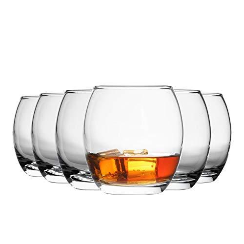 Argon Tableware Tondo - Juego de Vasos Bajos para Agua, Zumo o Whisky - En Caja Regalo - 405ml - Pack de 6