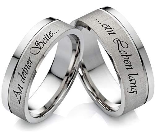frencheis Eheringe Verlobungsringe Edelstahlringe aus Edelstahl mit Laser Gravur Z132