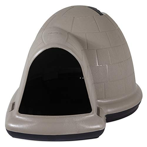 Petmate Indigo Dog House All-Weather Protection Taupe/Black 3 sizes Available