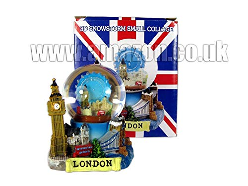 Snow Globes Small 3D Collage, Detailing London...