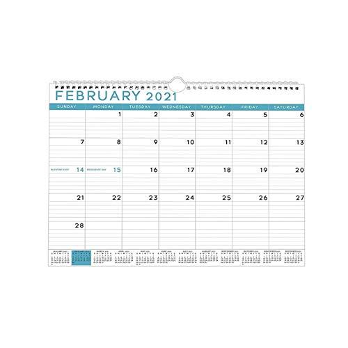 hgkl Calendario 2021 Calendario 2021 Calendario de calendarios de Escritorio de Pared 12 Meses con Mini Calendario de año Completo (Color : A)