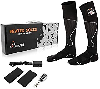 Remote Control Athletic Heated Socks | Rechargeable Battery Heating Socks for Men and Women | Deluxe Heat Socks Keep Feet Warm Indoors or Outdoors | Great for Ski, Outdoor Work and Winter Sports
