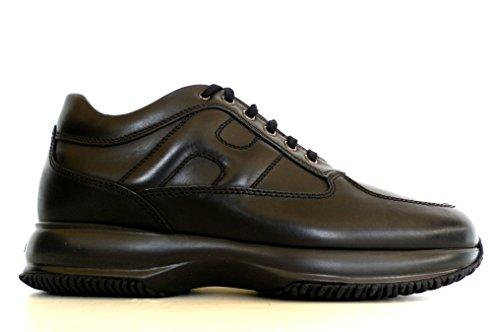 scarpe uomo modello hogan Hogan Uomo Interactive Allacciato in Pelle Modello HXM00N000101POB999 Nera (40 EU - 6 UK)