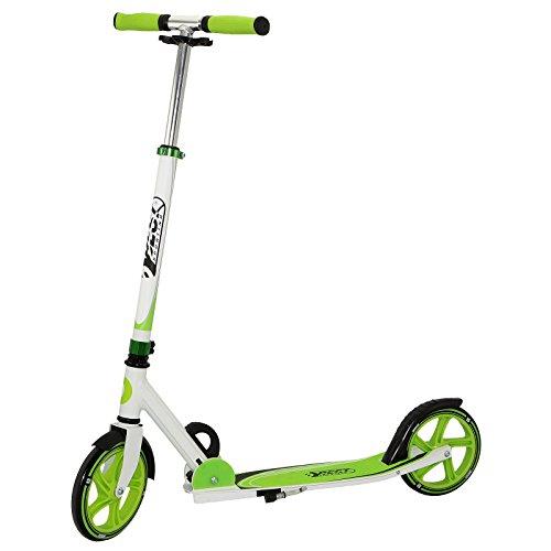 Best Sporting Scooter 205er Rolle, City-Roller aus Aluminium mit ergonomischen Griffen, Tretroller in grün/weiß