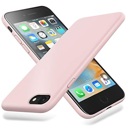 Winzizo iPhone SE 2020 Case, iPhone 8 Case/iPhone 7 Case Silicone Gel Slim Protective Phone Cover Soft Compatible for iPhone 8, iPhone 7 Case (Pink Sand)