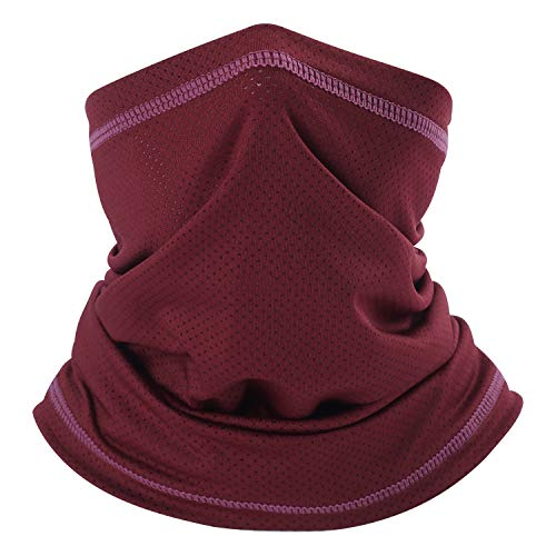 QINGLONGLIN Summer Sun Protection Face Mask Dust Neck Gaiter Multi-Headwrap for Fishing Cycling Hiking - Moisture Wicking Headband for Exercise Fitness