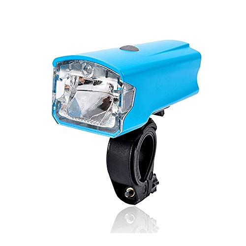 SWHJ LED Frontwasserdichte Fahrradbeleuchtung USB aufladbare Fahrradlampe Super Bright Night Ride Scheinwerfer Outdoor Radfahren Racing Taschenlampe Frontleuchte (Color : Blau)