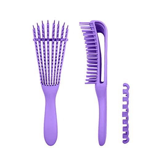CaLeQi cepillo desenredante pulpo peine peine de aire, cepillo de pelo esponjoso, reduce la fatiga femenina enredada, peine de masaje, fácilmente con mojado/seco, sin tirón o dolor